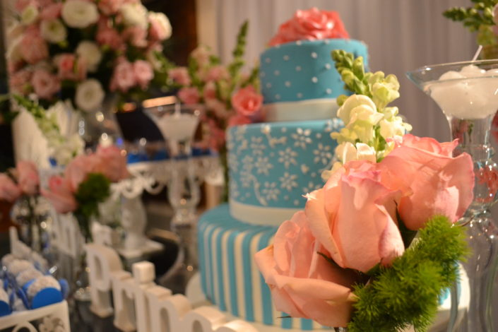 Decoracao Festa 15 Anos Friends Buffet azul tiffany